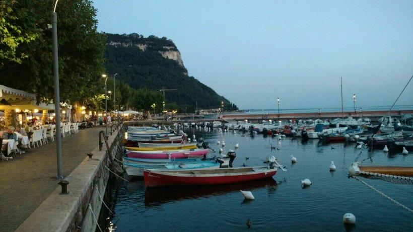 Beautiful view of the port of Garda