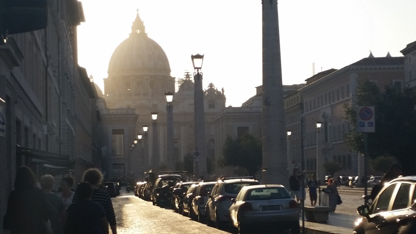 Sun setting over the Vatican